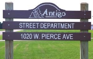 Photo of Street Department Shop Sign