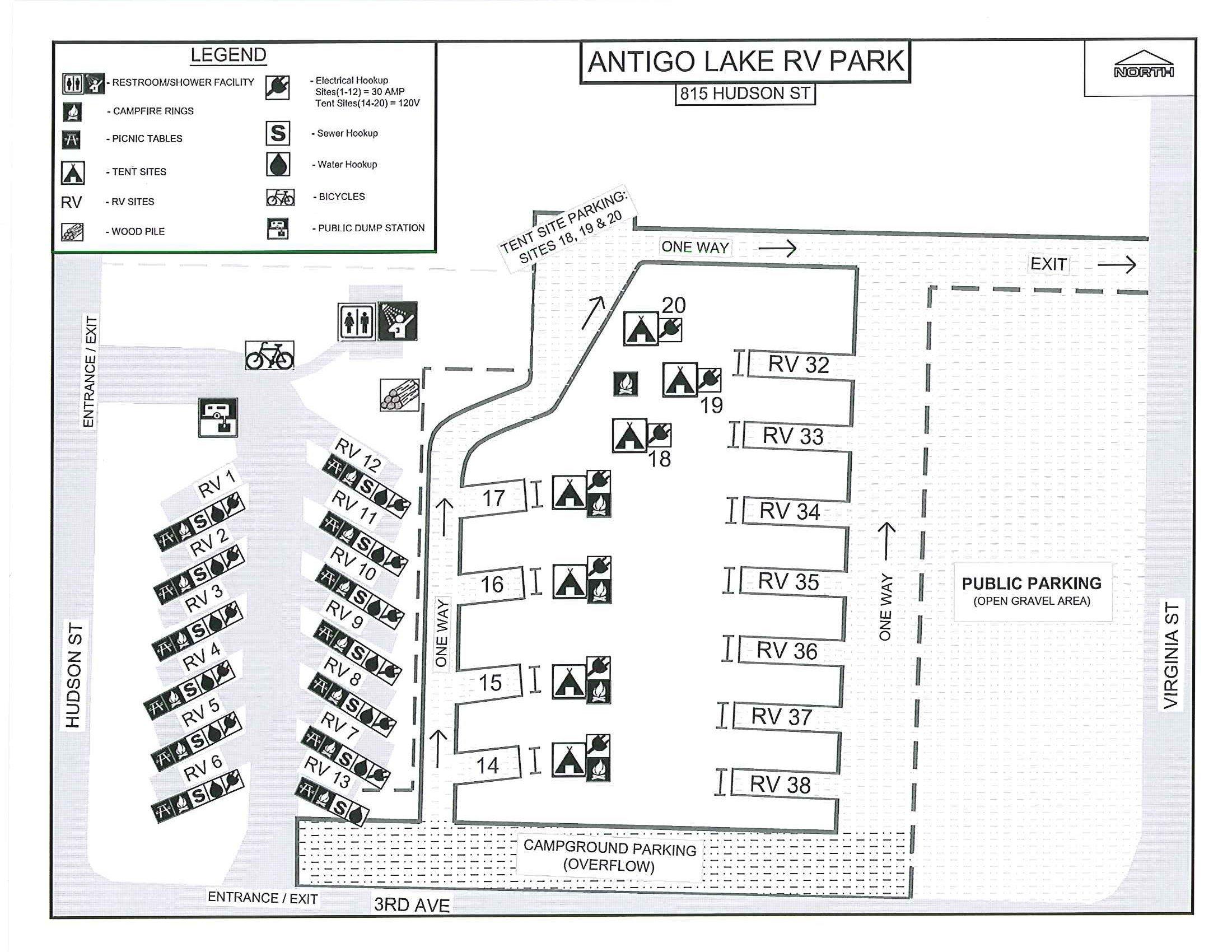 Campground City Of Antigo Official Website Wi 30 Amp 120v Wiring Diagram For Rv Fees